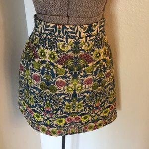 H & m multi color flowered skirt